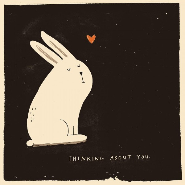 This guy cant stop thinking about you bunny thinkingaboutyou illustrationhellip